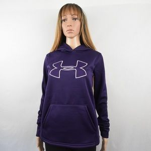 Under Armour Hoodie Sweater Womens XS Purple Black